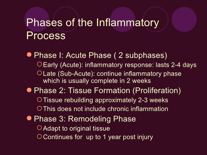 Stages in acute inflammatory response