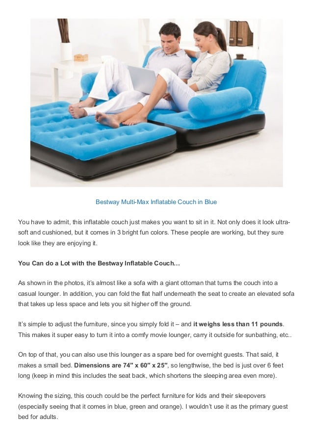 Bestway MultiMax Inflatable Couch in Blue You have to admit c593da97b