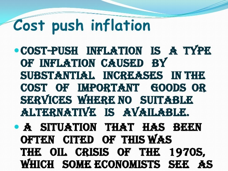 inflation example Definition: inflation is the devaluation of a currency marked by a sustained trend  of rising prices in the economy in other words, the value of each dollar is less,.