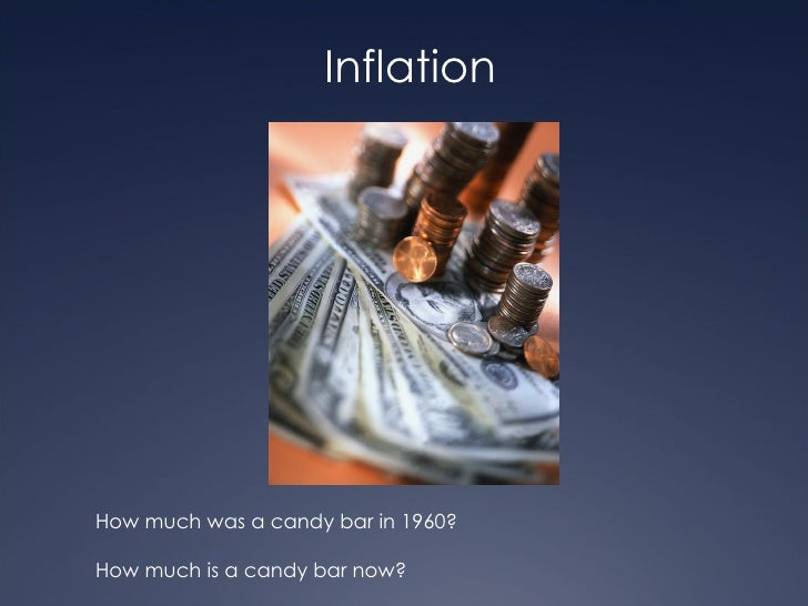 InflationHow much was a candy bar in 1960?How much is a candy bar now?
