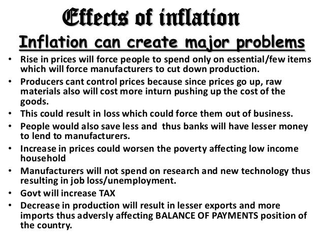 the effect of inflation on the High monetary fluctuation, in inflationary terms, breaks the balance of our a- posteriori and post mortem financial accounting systems, ie we can keep the.