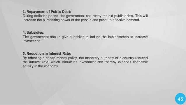 6. Credit Expansion: The central bank and the commercial banks should adopt a policy of credit expansion to promote busine...