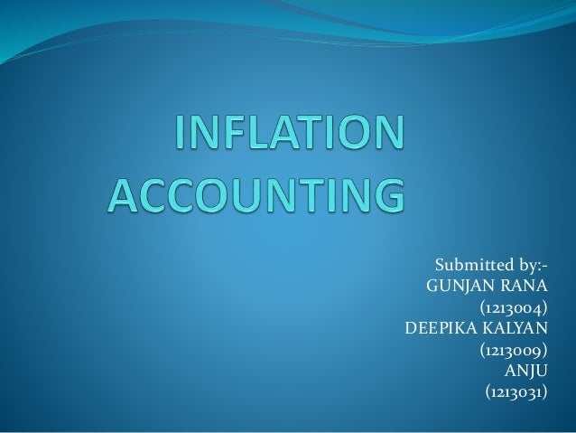 state the limitations of inflation accounting