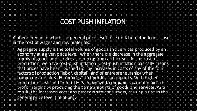 Inflation and Cost-push Factor Essay