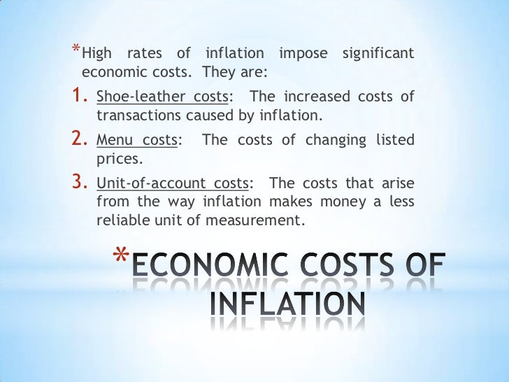 Shoe Leather Costs Of Inflation Arise From The
