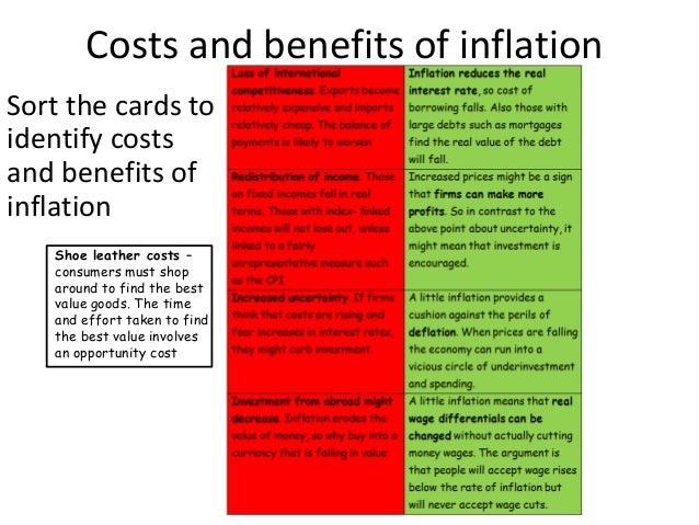 the advantages of inflation List of disadvantages of inflation targeting 1 unrealistic in nature inflation targeting can become unrealistic the very nature of an economy, especially the large ones, is that it takes.