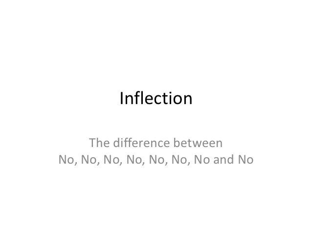 Inflection     The difference betweenNo, No, No, No, No, No, No and No