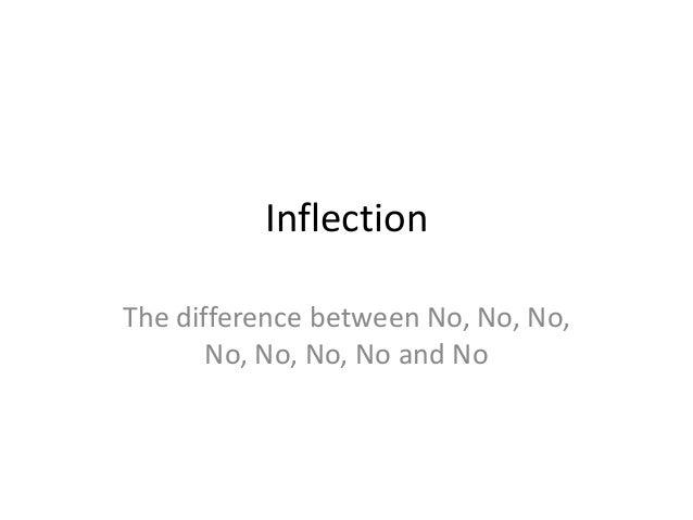 Inflection The difference between No, No, No, No, No, No, No and No