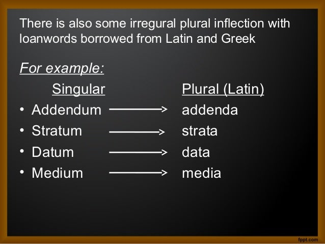 Inflection in Lexical Morphology