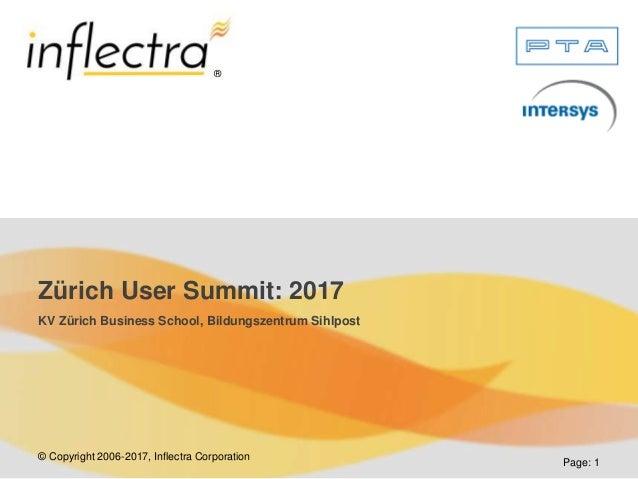 © Copyright 2006-2017, Inflectra Corporation ® Page: 1 Zürich User Summit: 2017 KV Zürich Business School, Bildungszentrum...