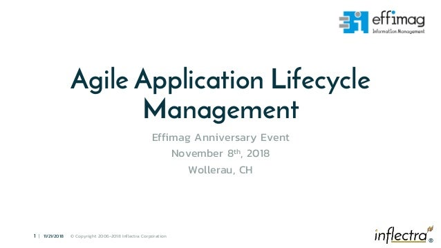 ® 1 | 11/21/2018 © Copyright 2006-2018 Inflectra Corporation ® Agile Application Lifecycle Management Effimag Anniversary ...