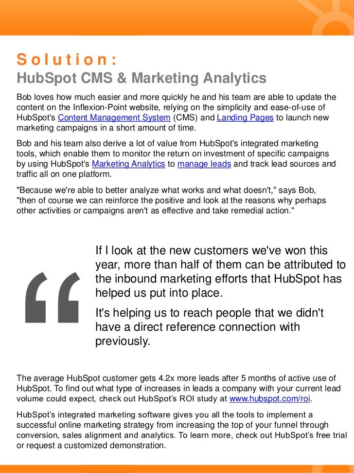 Case Study: Inflexion-Point Acquires 50% of New Customers Using Inbound Marketing Slide 2