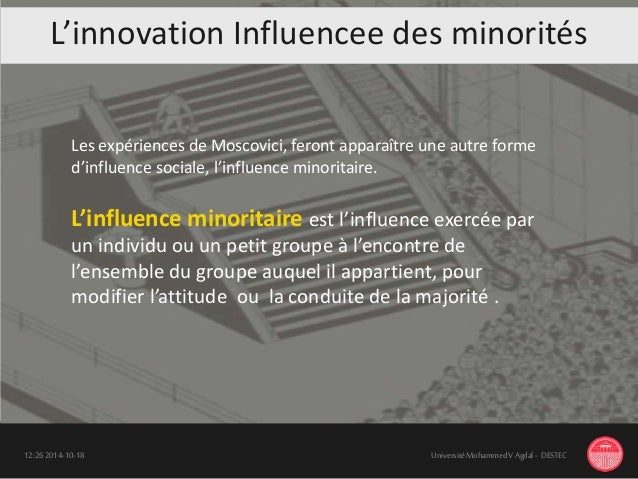 L 'innovation 18-10-201412:26 UniversitéMohammedV Agdal - DESTEC Les expériences de Moscovici, feront apparaître une autre...