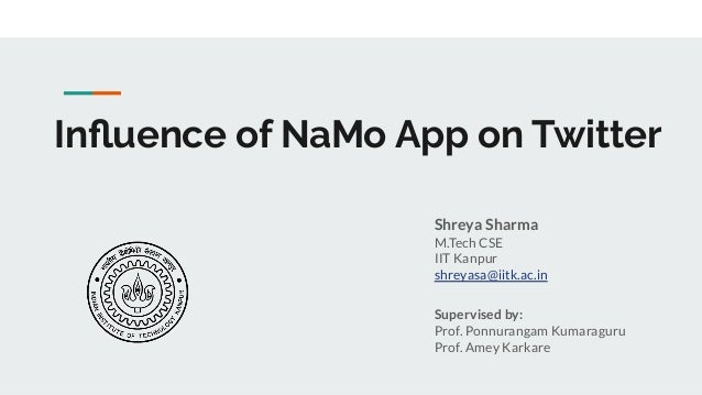 Influence of NaMo App on Twitter