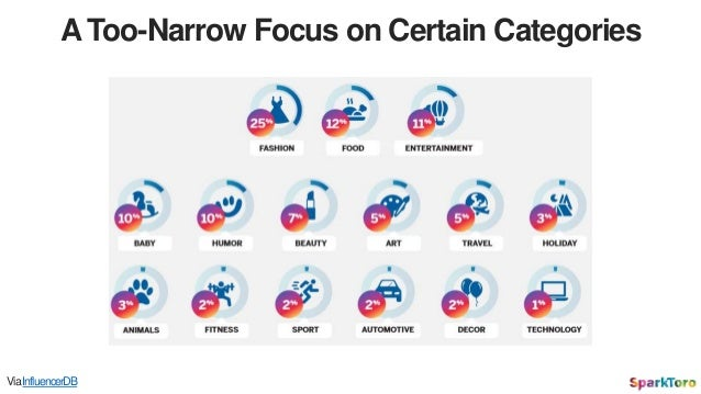 A Too-Narrow Focus on Certain Categories ViaInfluencerDB