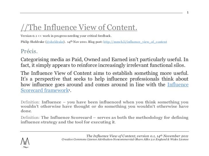 1//The Influence View of Content.Version 0.1 << work in progress needing your critical feedback.Philip Sheldrake (@sheldra...