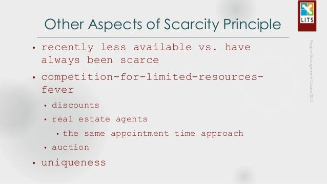 Scarcity principle dating