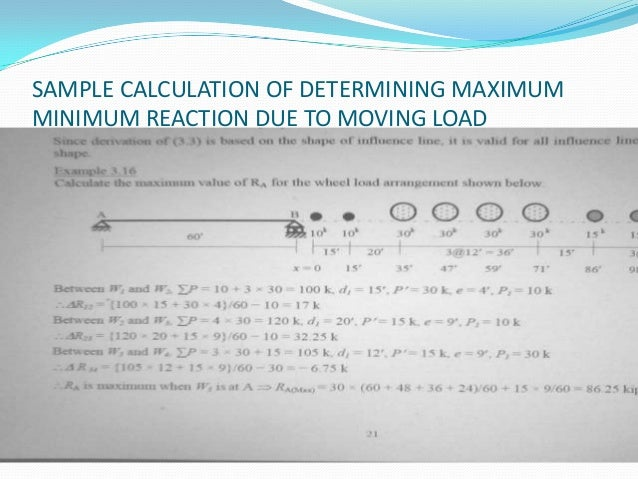 Influence Line Of Reaction For Determinate Structure Determining Max