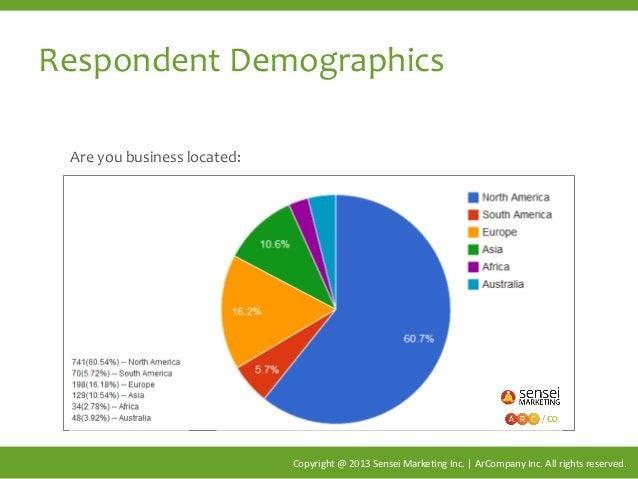 Respondent Demographics Copyright @ 2013 Sensei Marketing Inc. | ArCompany Inc. All rights reserved. Are you business loca...