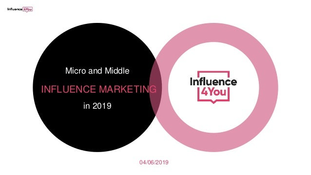 04/06/2019 Micro and Middle INFLUENCE MARKETING in 2019