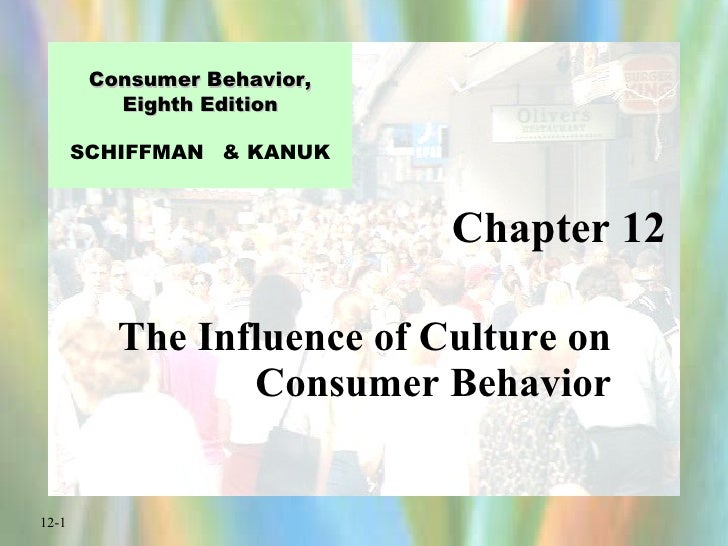 culture and consumer behavior essays The influence of culture on consumer behavior culture we define culture as a sum total of learned beliefs, values and customs that serve to direct the consumer.