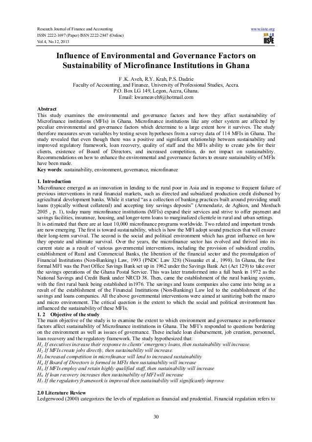environmental governance literature review