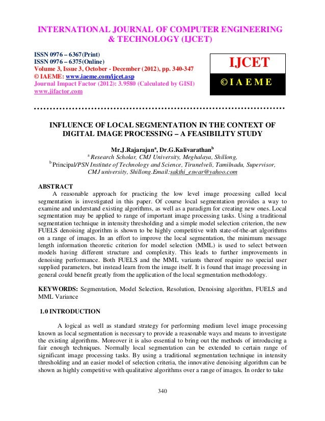 INTERNATIONALComputer Volume OF COMPUTER ENGINEERING – International Journal of                              JOURNAL 3, Is...