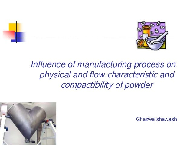 Influence of manufacturing process on physical and flow characteristic and compactibility of powder  Ghazwa shawash