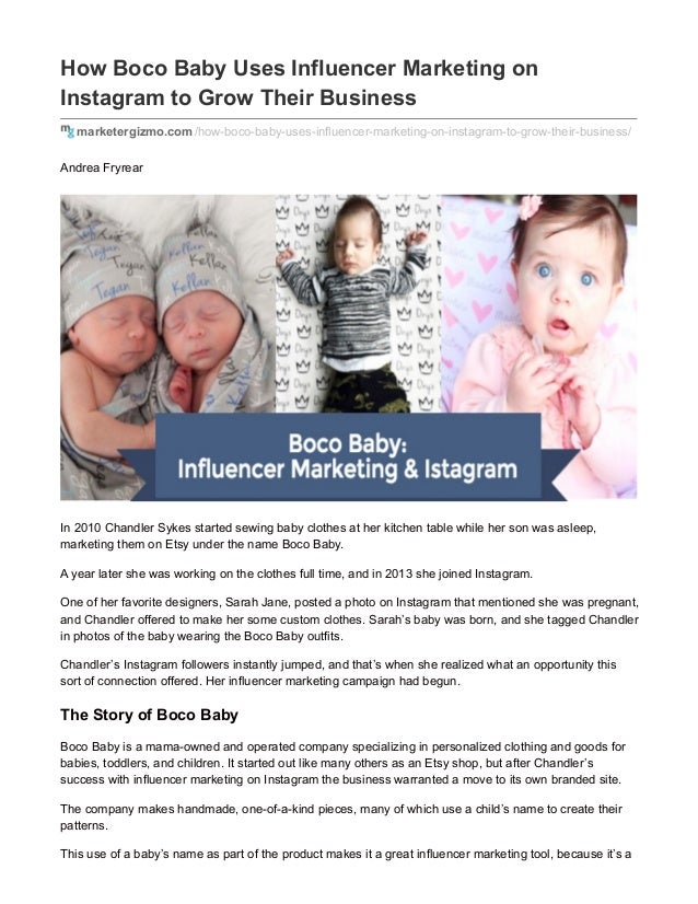 How Boco Baby Uses Influencer Marketing on Instagram to Grow Their Business marketergizmo.com/how-boco-baby-uses-influence...