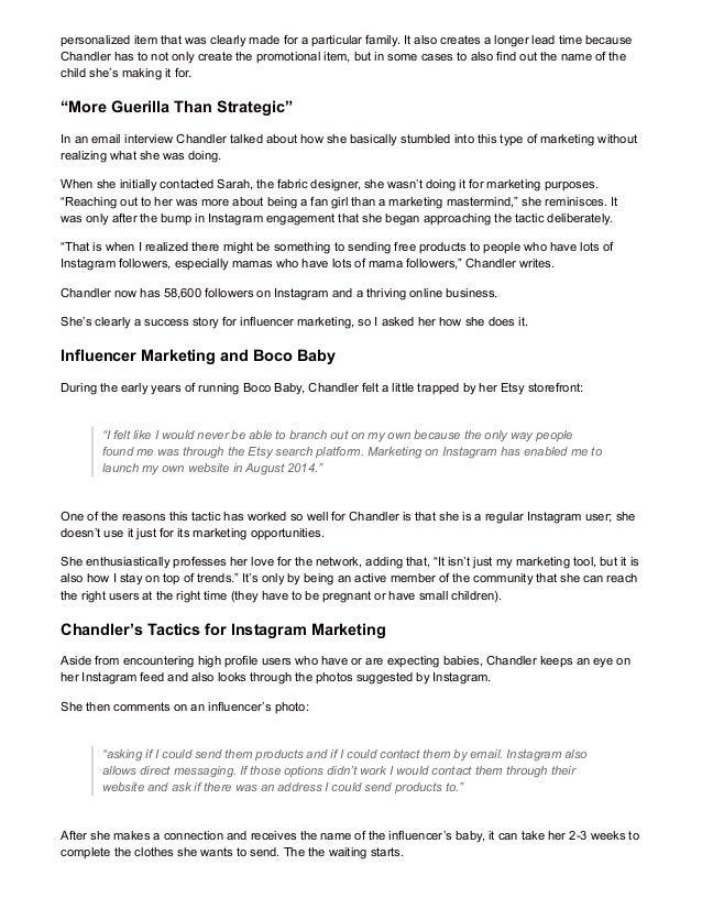 Influencer Marketing on Instagram Case Study: Boco-Baby Slide 2