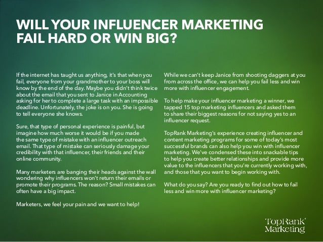 Influencer Engagement: 15 Ways to Fail & 25 Ways to Win Slide 2