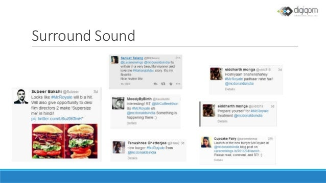 mcdonald s twitter campaign case analys Case study: mcdonald's surprise alarm  relationship between the agency and mcdonald's case study video:  me in this campaign is the way that mcdonald's .