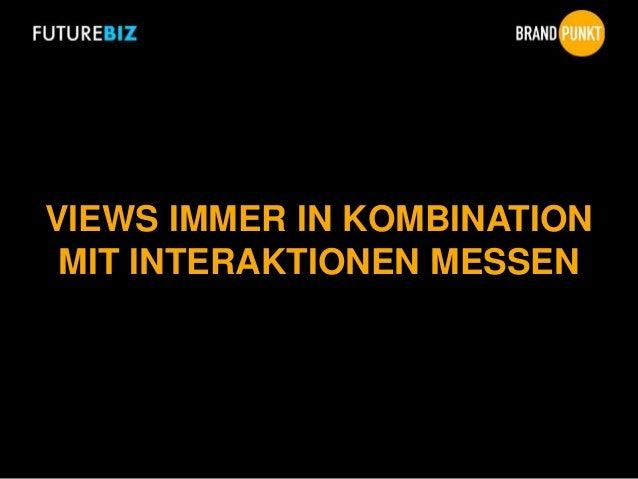 VIEWS IMMER IN KOMBINATION MIT INTERAKTIONEN MESSEN