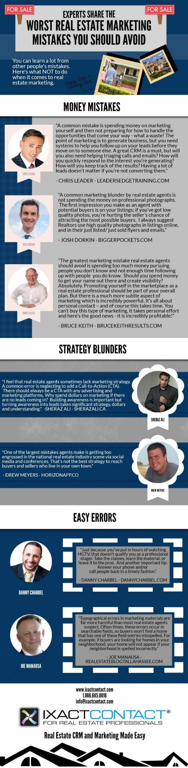 [INFOGRAPHIC] Experts Share the Worst Real Estate Marketing Mistakes You Should Avoid