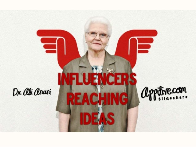 Influencers arerare breed