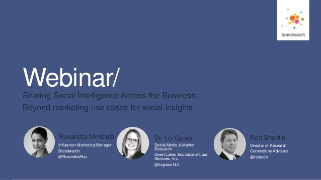 1 #brandwatchtips © 2016 Brandwatch.com Webinar/Sharing Social Intelligence Across the Business: Beyond marketing use case...