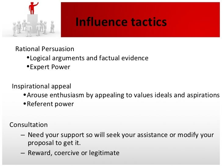 influence tactics of leaders Chapter summary to become an effective leader, a person must be aware of  specific influence tactics influence is the ability to affect the behaviors of others in  a.