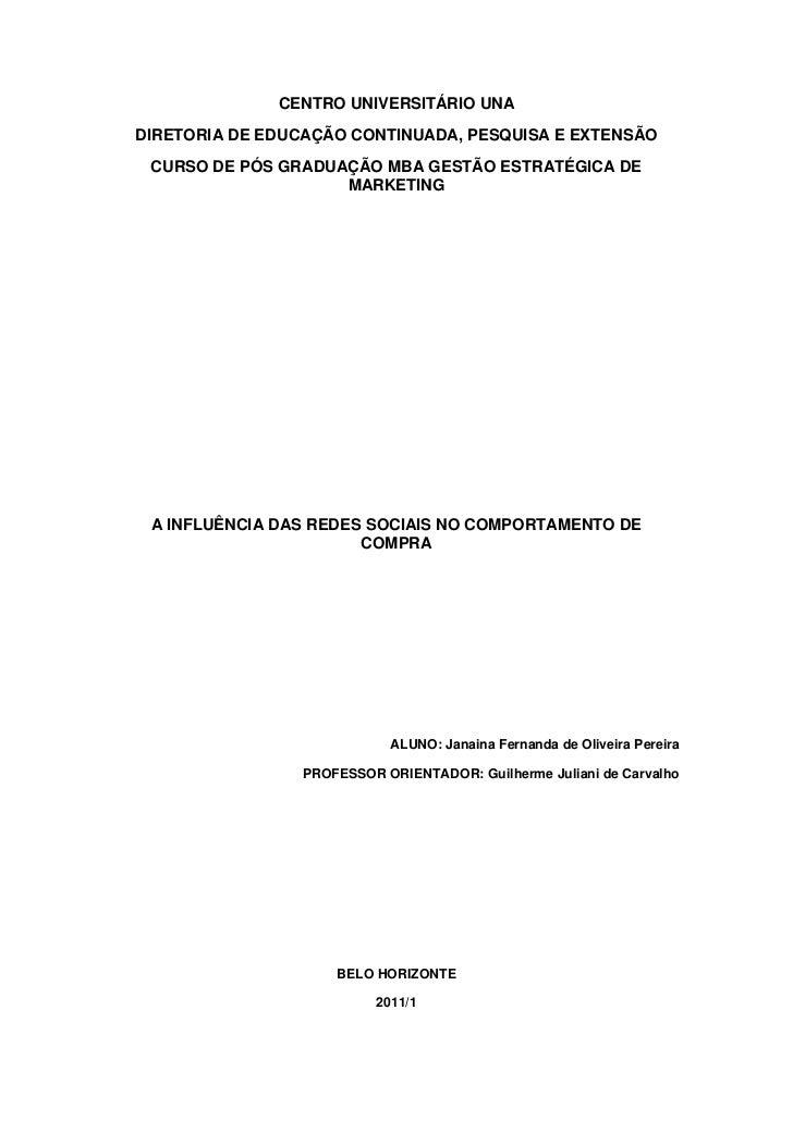 CENTRO UNIVERSITÁRIO UNADIRETORIA DE EDUCAÇÃO CONTINUADA, PESQUISA E EXTENSÃO CURSO DE PÓS GRADUAÇÃO MBA GESTÃO ESTRATÉGIC...