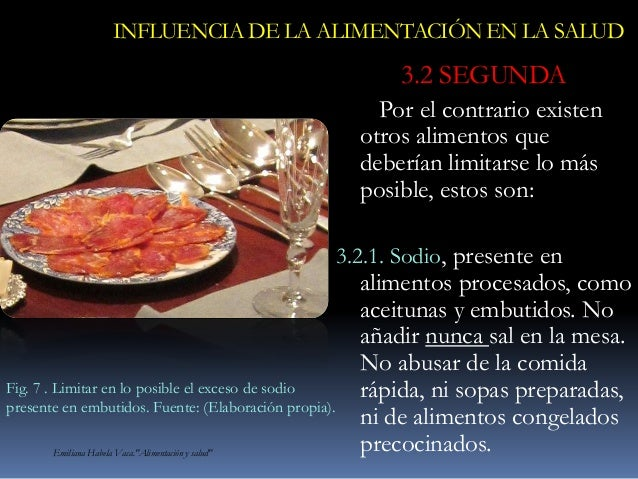 Influencia de la alimentación en la salud. Alimentos