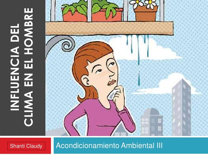 CLIMA EN EL HOMBRE  INFLUENCIA DEL Shanti Claudy       Acondicionamiento Ambiental III