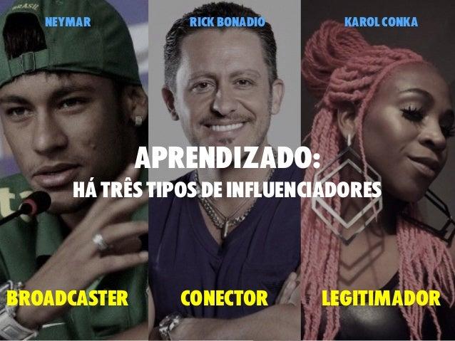 aprendizado: há três tipos de influenciadores broadcaster conector legitimador neymar rick bonadio karol conka