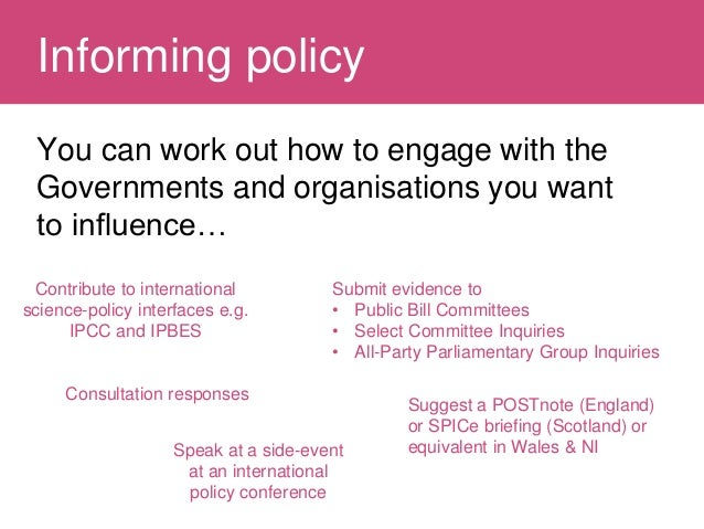 Influencing policy Slide 2