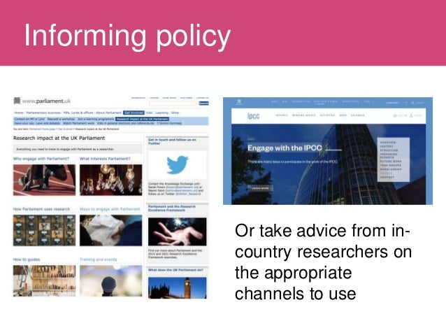 Influencing policy Slide 3