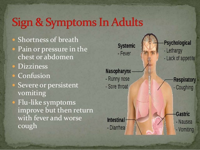  Shortness of breath  Pain or pressure in the chest or abdomen  Dizziness  Confusion  Severe or persistent vomiting ...