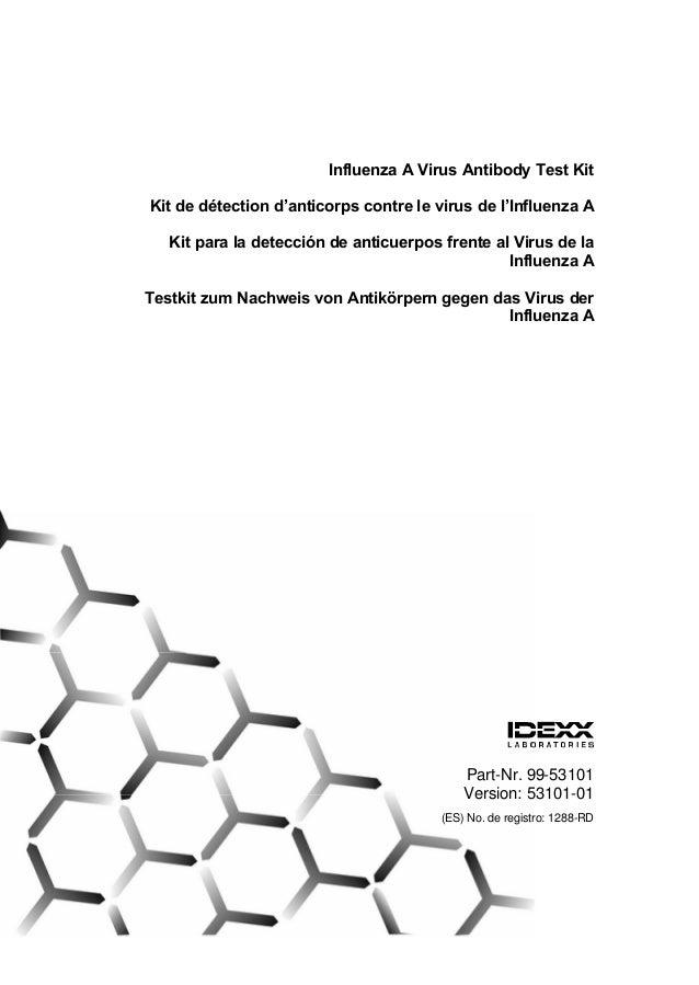 Influenza A Virus Antibody Test KitKit de d€tection d'anticorps contre le virus de l'Influenza A   Kit para la detecci'n d...