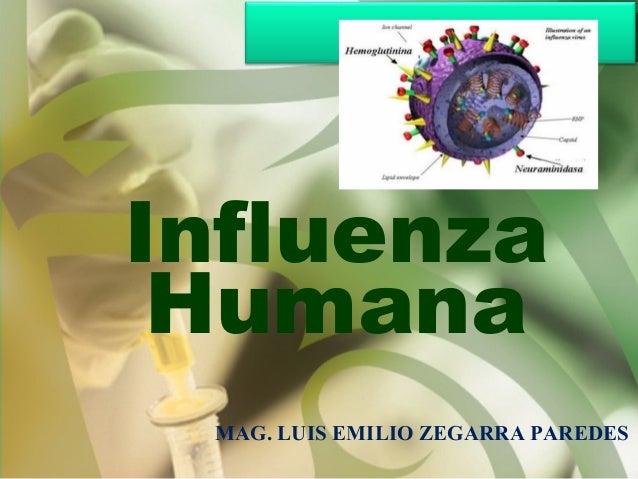 Influenza Humana MAG. LUIS EMILIO ZEGARRA PAREDES