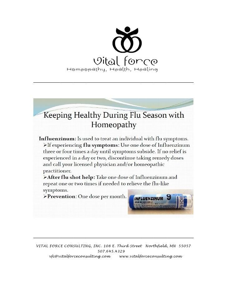 Keep healthy during flu season with homeopathy