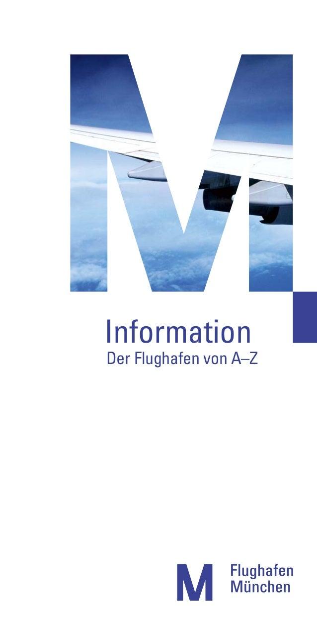 Information - Der Flughafen München von A-Z