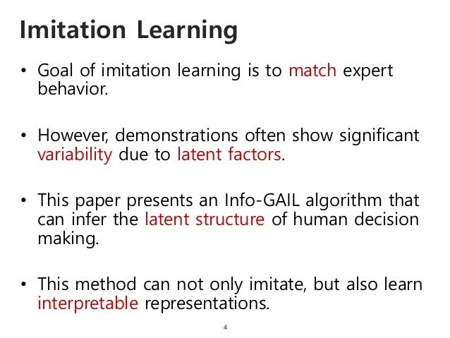 • Goal of imitation learning is to match expert behavior. • However, demonstrations often show significant variability due...