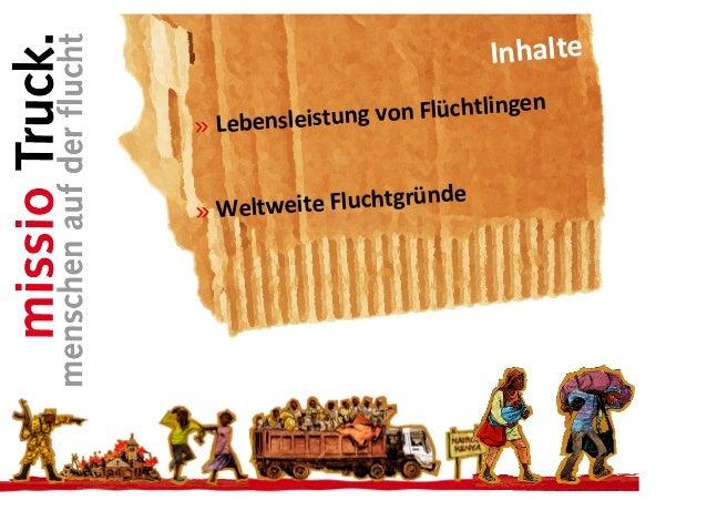 » Initiativen kirchlicher Partner  in den betroffenen Regionen  » Situation von Flüchtlingen in Deutschland  » Handlungsmö...
